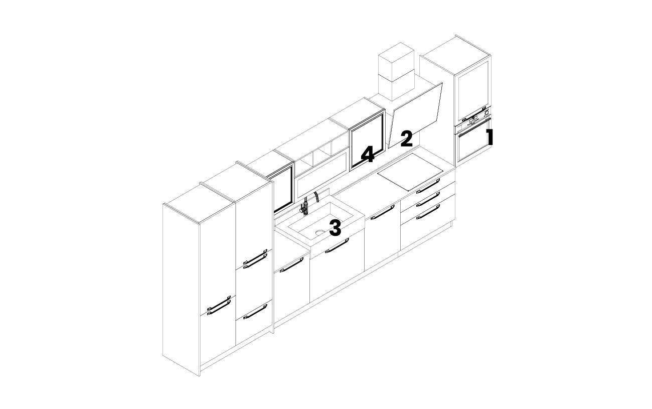 DM0680 - Cucina lineare modello 2D