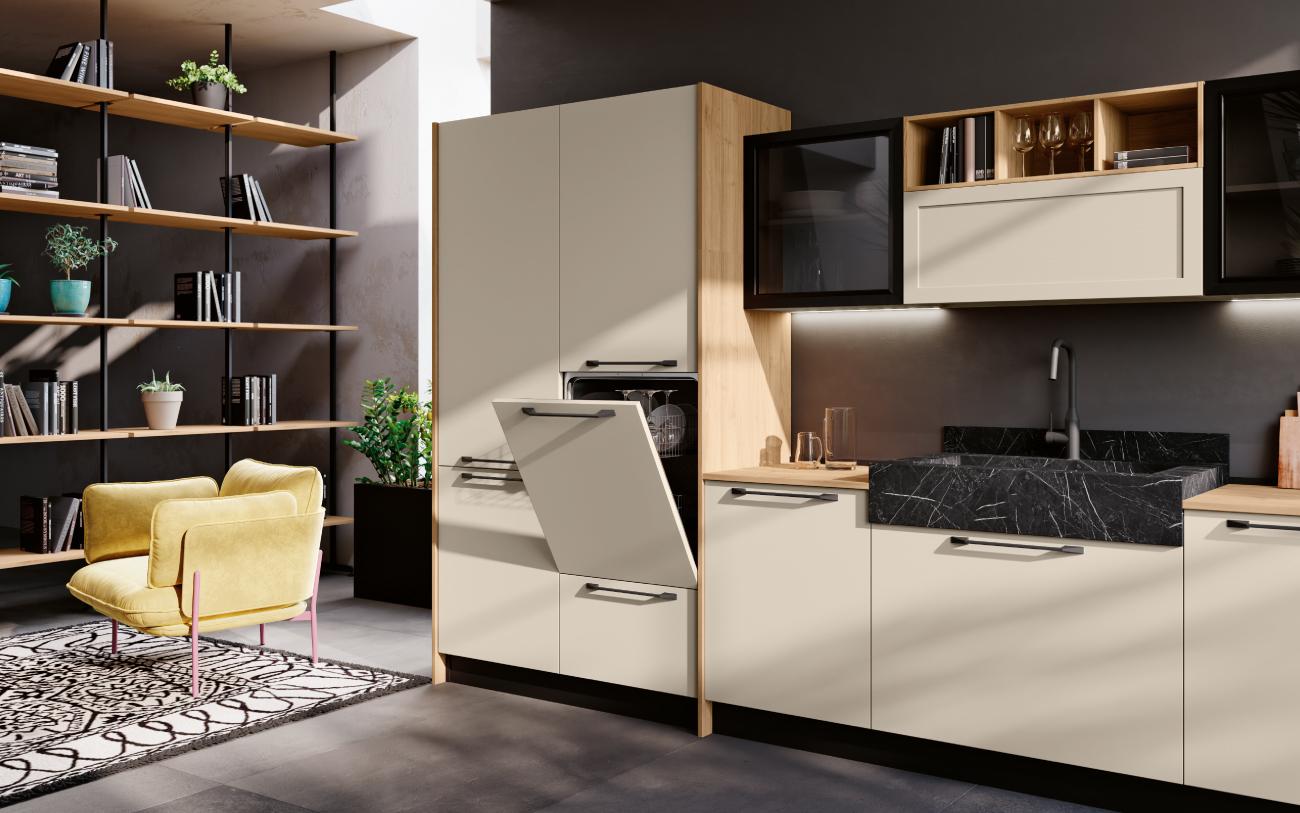dm0680 Cucina lineare particolare lavello lavastoglie