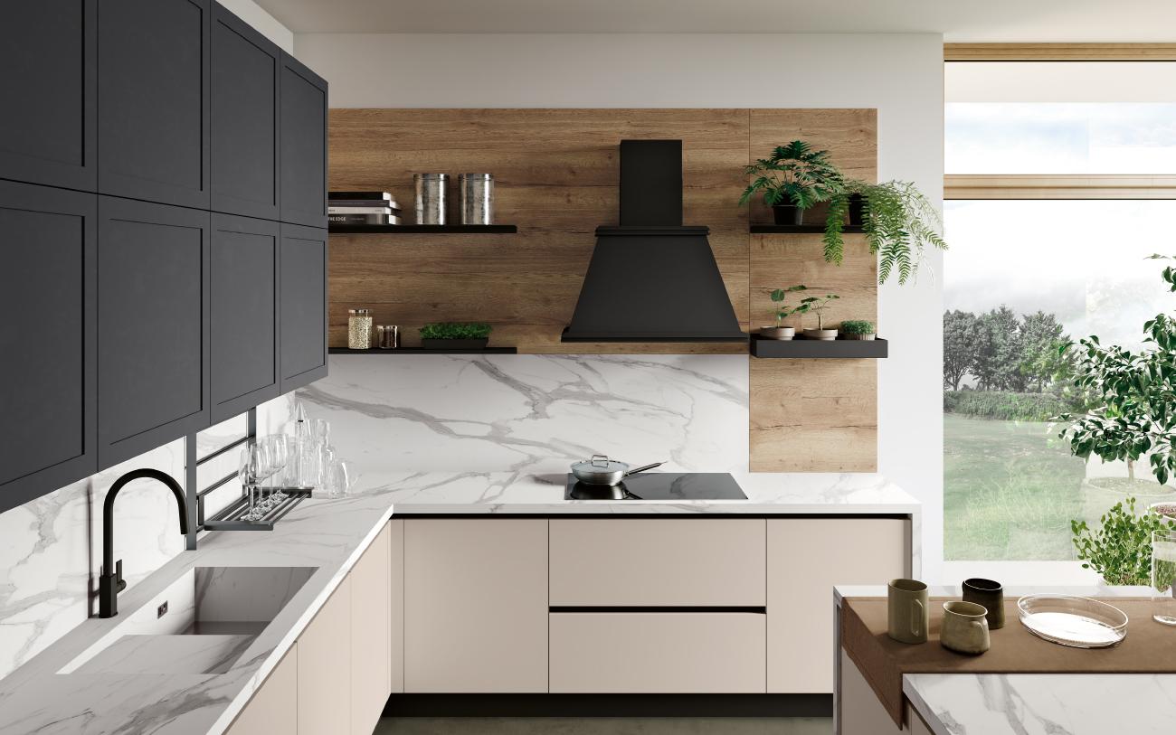dm0681dm0681 Cucina isola frontale piano cottura