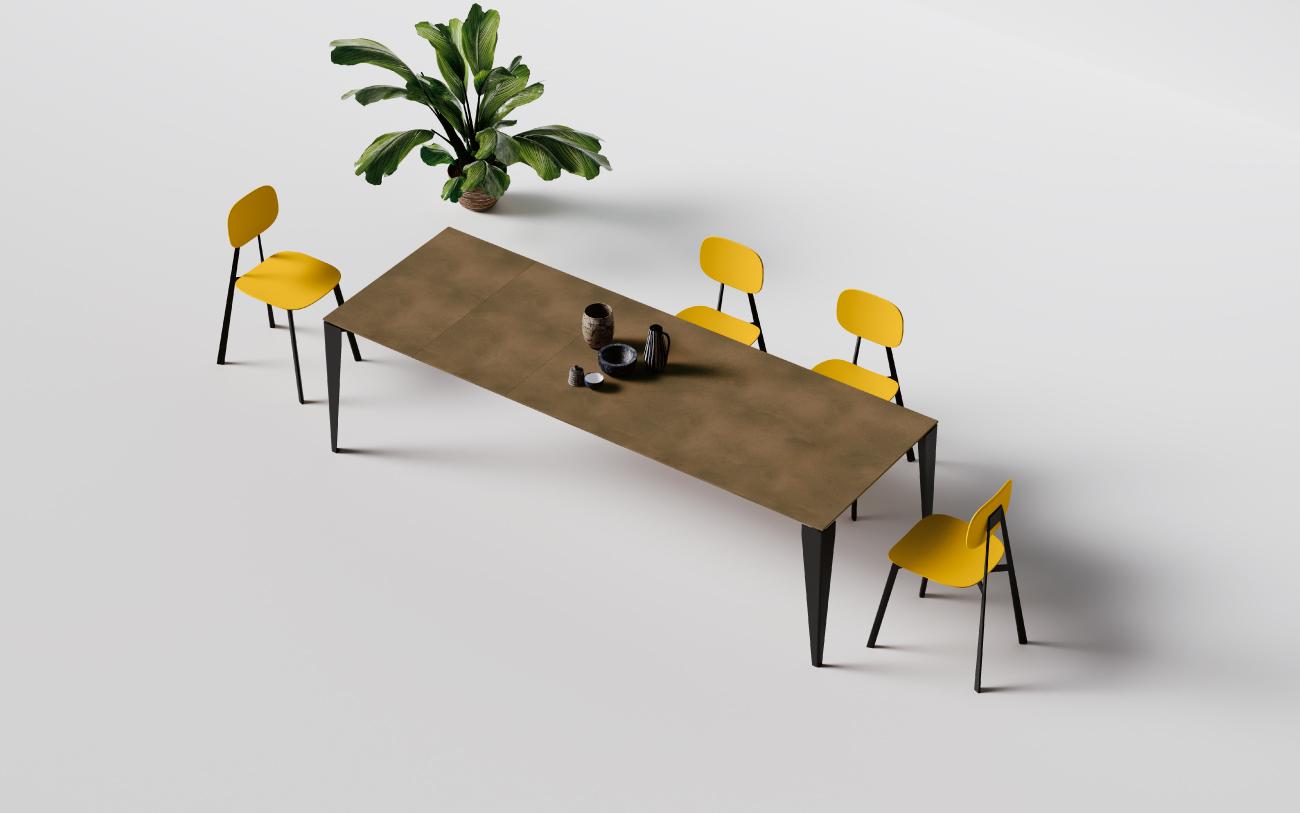 Job tavolo allungabile con 4 allunghe
