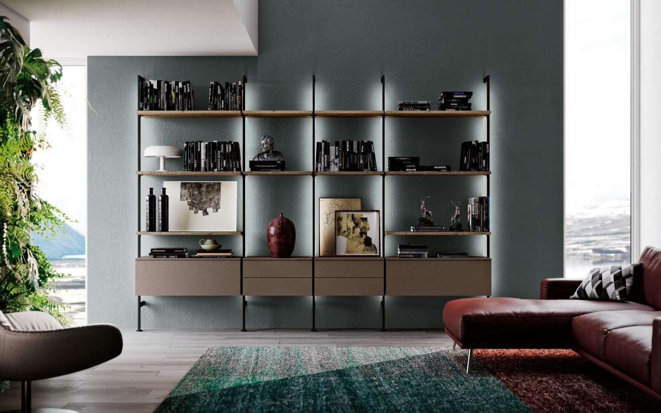 qsm604 Libreria a muro