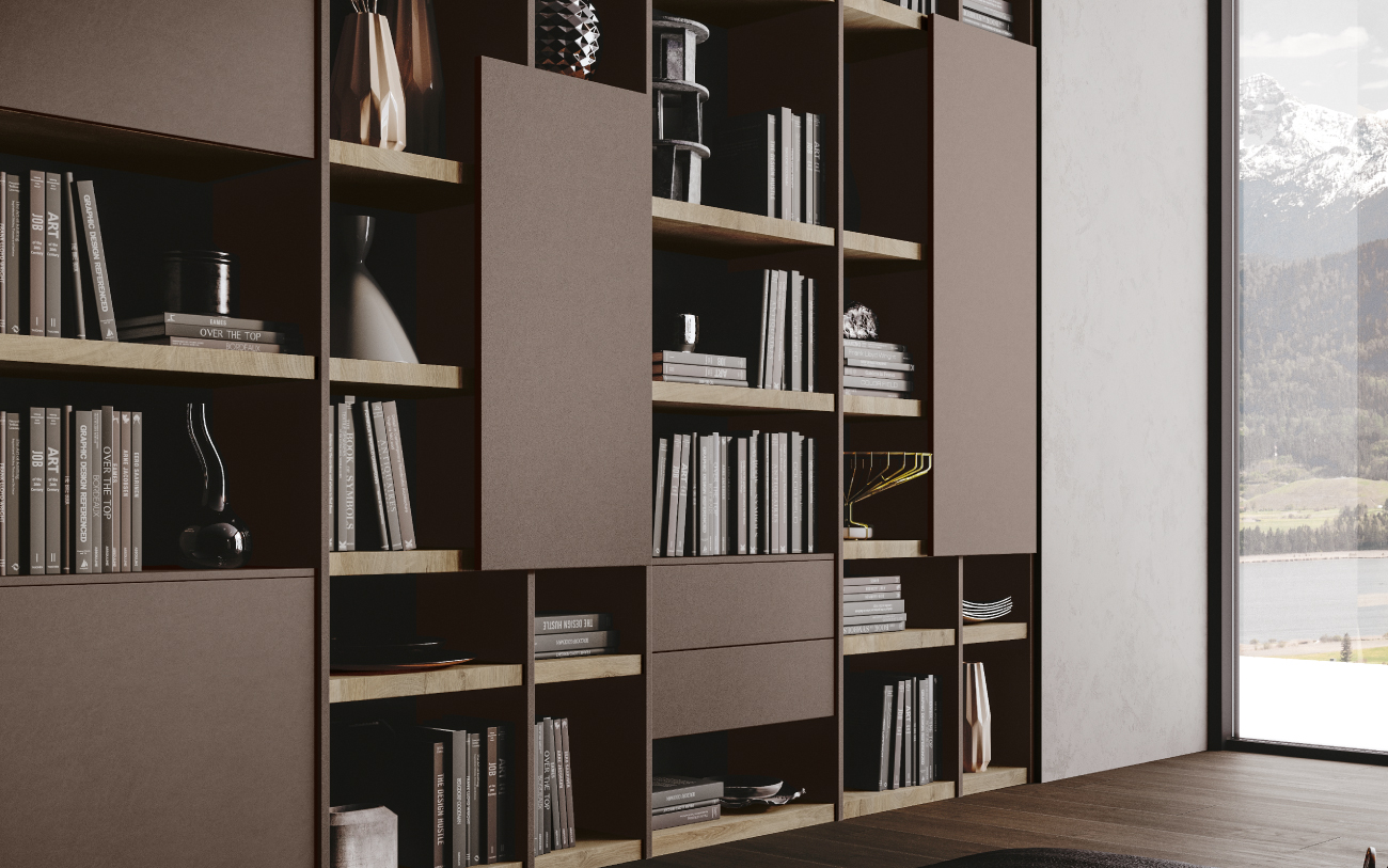 qsm617 Libreria soggiorno Pensarecasa particolare