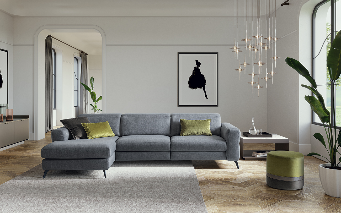 Gareth divano in tessuto LeComfort catalogo Pensarecasa
