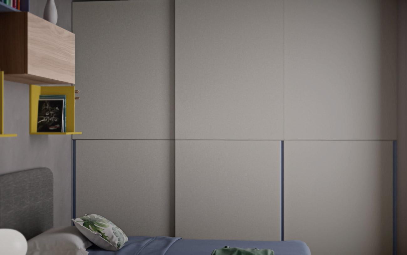 Camera da letto ragazzo Pensarecasa particolare armadio scorrevole
