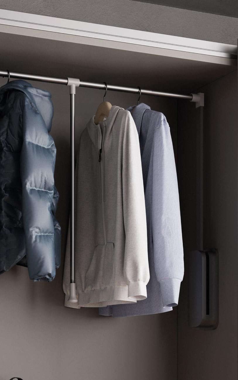 Camera da letto ragazzo Pensarecasa particolare servetto armadio scorrevole