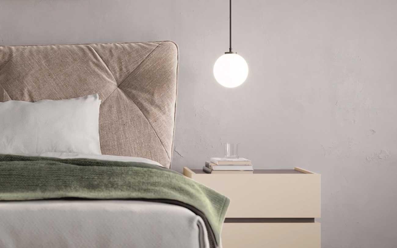 Camera da letto moderna particolare letto - pensarecasa